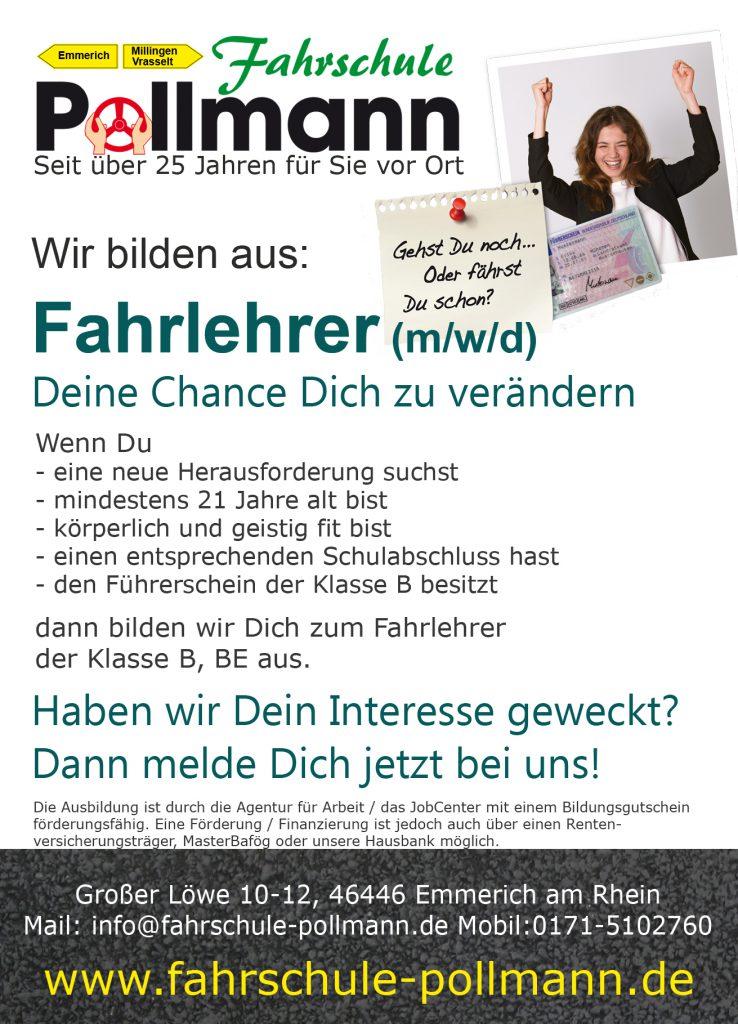 Ausbildung zum Fahrlehrer m/w/d - Fahrschule Pollmann